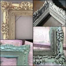 frame makeover old gold plastic frame spray paint white with