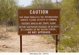 Arizona travel warnings images Desert immigration warning sign stock photos desert immigration jpg