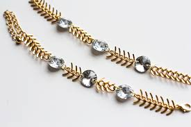 crystal bracelet diy images Diy fishbone chain crystal bracelet high on diy jpg