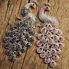 personalized charms bulk peacock bling pendants supplies 120 52mm craft supplies