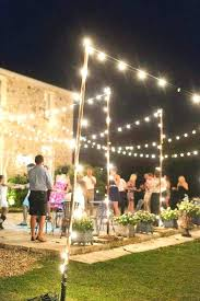 Hanging Patio Lights String How To Hang Backyard String Lights Patio Lights Back Yard Image
