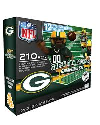 Green Bay Packers Flags Oyo Sports National Football League Game Time Lego Set Green
