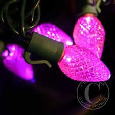 c7 pink commercial led lights