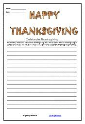 Thanksgiving Writing Pages The 15 Best Images About Thanksgiving Worksheets On Pinterest