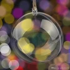 16 cm big christmas balls classic transparent plastic balls