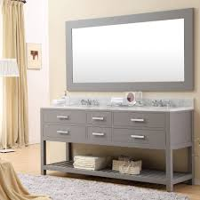 Bathroom Sink Mirrors Cadale 72 Inch Gray Finish Sink Bathroom Vanity One Mirror