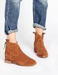 womens boots uk asos asos horn suede concealed wedge ankle boots http api