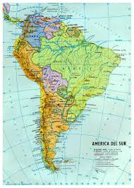Map Of Usa Capitals by Large Detailed Political And Hydrographic Map Of South America