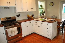 farmhouse kitchen designs dark wooden lamonate floor solid cherry