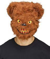 Brown Bear Halloween Costume Killer Bear Mask Tibbers Horror Scary Halloween Costume