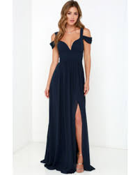 bariano dresses slash prices on lulus bariano of elegance navy blue maxi