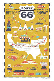 Old Route 66 Map by 474 Best The Best Illustrated Maps Images On Pinterest