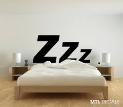 bedroom wall art etsy zzz bedroom wall decal