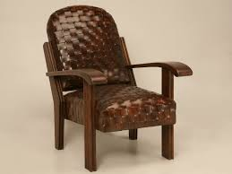 Vintage Leather Chairs Decor Vintage Brown Leather Club Chair With Nailhead Trim For