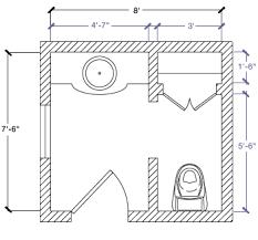4 X 7 Bathroom Layout 4 X 9 Bathroom Layout Designs Room Design Layouts On Small