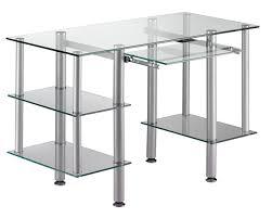 bureau metal et verre bureau informatique design en verre transparent dimitrio bureau