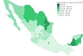 Map Of Mexico States And Cities by List Of Mexican States By Gdp Wikipedia