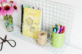 Yellow Desk Organizer Diy Wire Desk Organizer