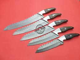 damascus kitchen knives for sale damascus kitchen knives 5 pcs set custom handmade damascus steel