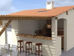 cuisine d ete barbecue aménagements extérieurs travaux paysagers en gironde pool house