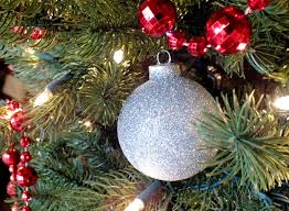 Glitter Christmas Ornaments To Make by Silver Glitter Christmas Tree Ornaments Two Sisters Crafting
