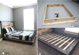Build Platform Bed Diy Platform Bed Frame Brunofelixarts