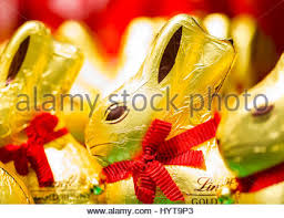 lindt easter bunny chocolate easter bunny in a shop vienna austria europe stock