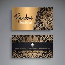 Luxury Business Cards Luxury Business Card For Festival Vector Free Download