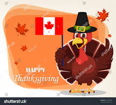 thanksgiving greeting card turkey bird wearing stock vector