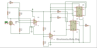 Solar Street Light Circuit Diagram by Auto Intensity Control Of High Powered Led Lights Circuit