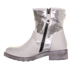 short motocross boots womens short studded glitter biker boots grip sole off white ebay