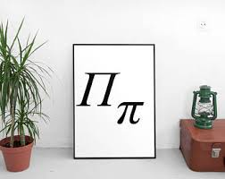 pi math wall art etsy