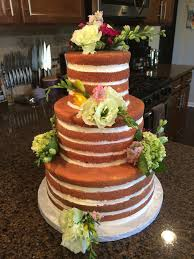 wedding cake no icing la patisserie cake no icing outside with real