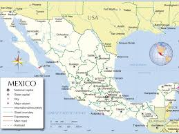 Map Of The United States Capitals by Usa And Mexico Map Canada Mexico Map Mexicounited States Border