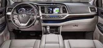 inside toyota highlander 2017 toyota highlander limited platinum inside interior photos