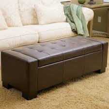 ravello brown bonded leather storage ottoman costco uk