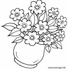 coloriage fleurs de printemps dessin