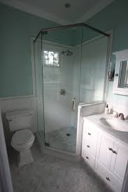 Shower Stalls For Small Bathrooms by Small Master Bath Reno Is Complete Hexagon Marble Floor Tile