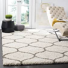 Plush Area Rugs Safavieh Hudson Shag Collection Sgh280a Ivory And Grey