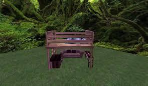 Loft Bed Set Second Life Marketplace Loft Bed Set Desk U0026 Chair