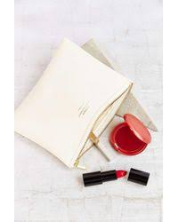 delfonics pouch delfonics quitterie pouch in white lyst