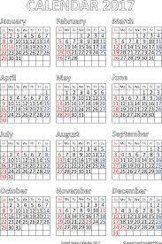 2017 us calendar printable printable calendar 2017 for us pdf free printable pdf