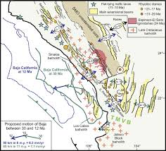 Southern Mexico Map by Late Oligocene To Middle Miocene Rifting And Synextensional