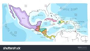 mexico america map map of usa mexico and central america maps of the americas united