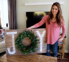 ana white joy holiday sign christmas wall art diy projects