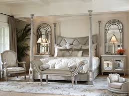 Amazing And Beautiful Mirrored Bedroom Furniture Sets The Ionia Four Poster Bed With Diamond Tufted Upholstery And