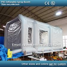 6m pvc tarpaulin inflatable spray booth inflatable paint booth