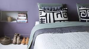 chambre grise et violette couleur de chambre peinture déco côté maison