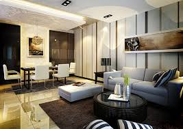 indoor interior design ideas for apartment with living room and