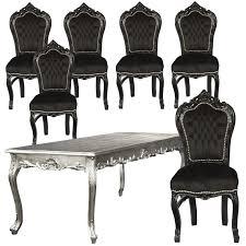 Esszimmerst Le Schwarz Leder Weiße Und Silberne Esszimmerstühle Möbelideen